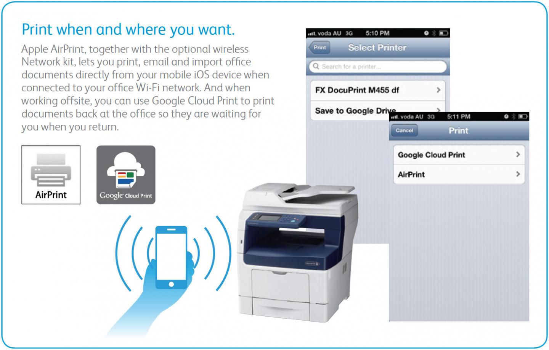 Buy the Fuji Xerox M455DF Docuprint Multifunction Printer